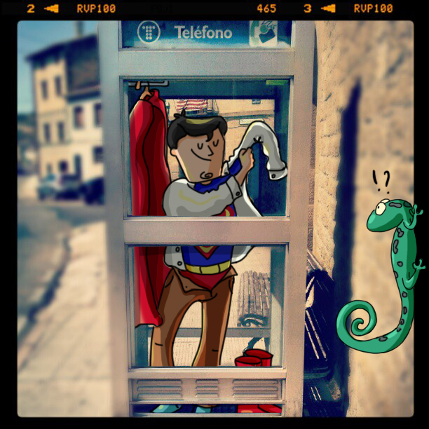 Insta-Dibujo 3: SuperMan in fraganti